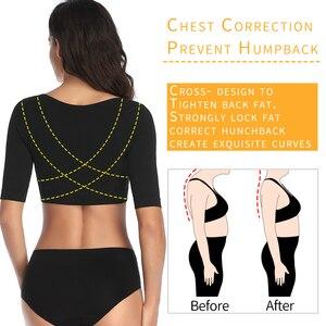 Image 4 - Shaper braccio superiore correttore postura più sottile donna maniche a compressione corpo Shapewear intimo correttivo senza cuciture top dimagranti