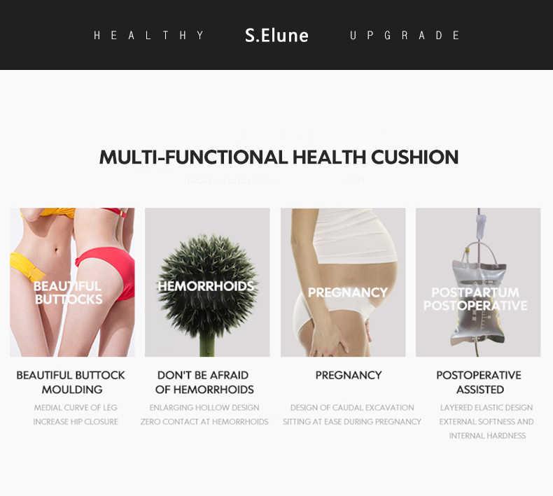 Selune Haemorrhoid Massage Kussen Hip Push Up Yoga Orthopedische Comfort Office Auto D Zitkussen Kantoor Zwangerschap Kussens