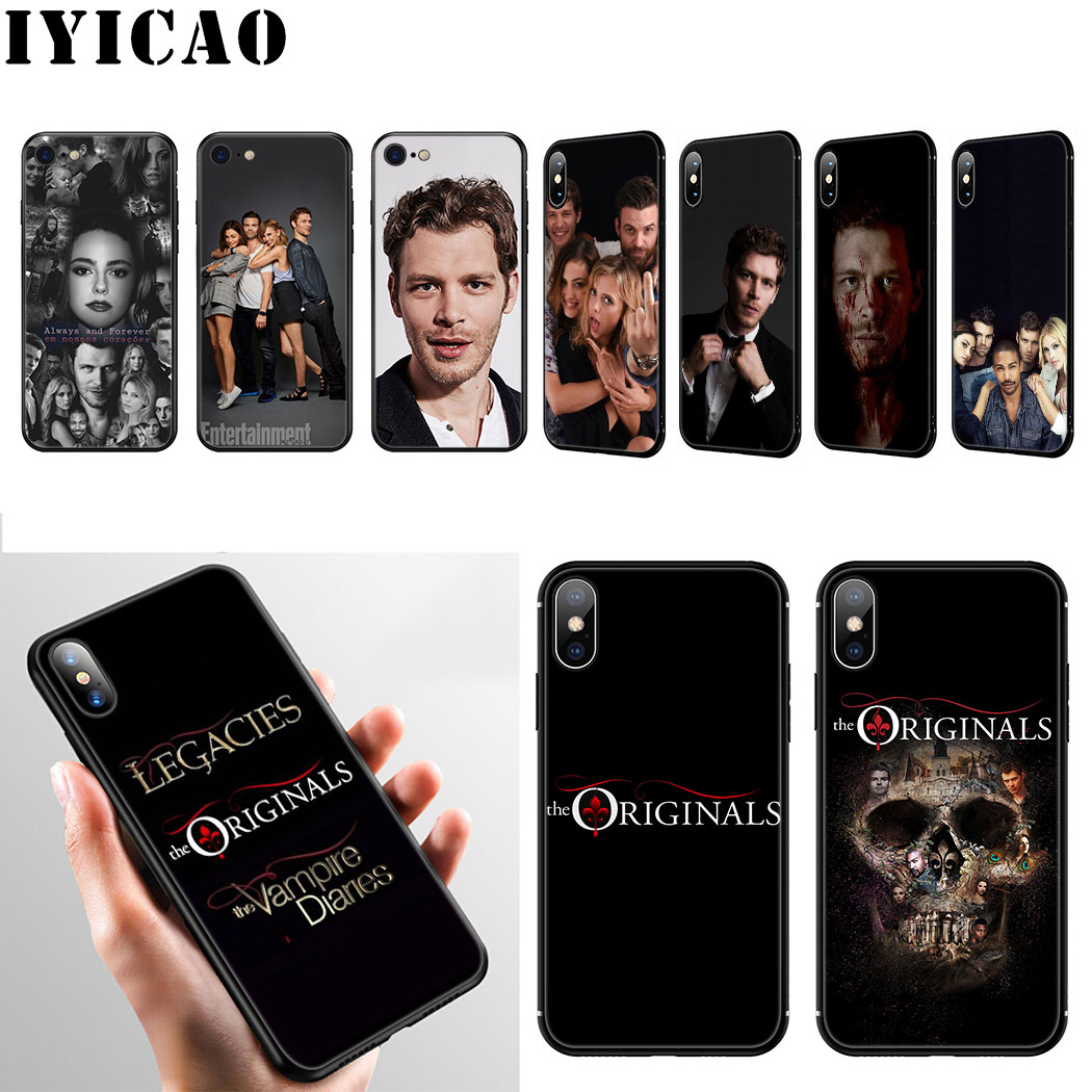 IYICAO The <font><b>Originals</b></font> Vampire Soft Silicone <font><b>Case</b></font> for <font><b>iPhone</b></font> 11 Pro Max XR X XS Max 6 6S 7 8 Plus 5 <font><b>5S</b></font> SE Phone <font><b>Case</b></font> image