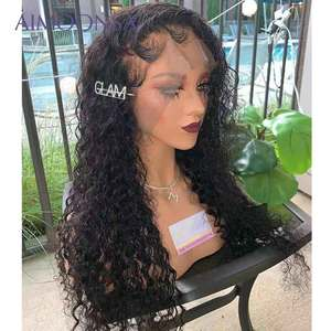 Image 3 - Transparent Lace Wig Curly 360 Lace Frontal Wig Pre Plucked With Baby Hair Brazilian Lace Front Human Hair Wigs Aimoonsa Remy