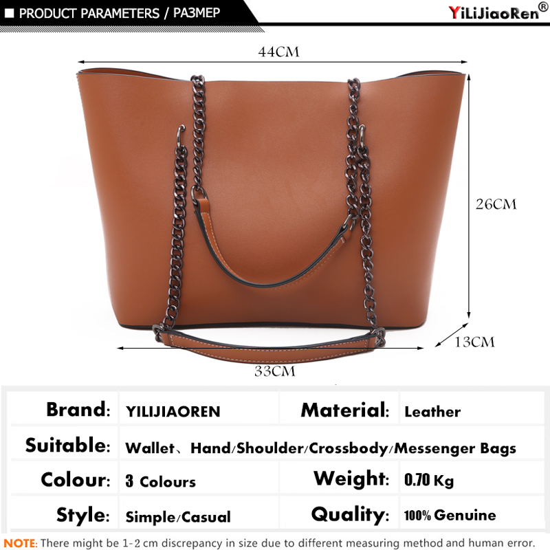 Casual Handbags Women Bags Designer Chain Shoulder Bag Famous Brand Leather Ladies Handbag Large Capacity Tote Bag Sac A Main in Top Handle Bags from Luggage Bags