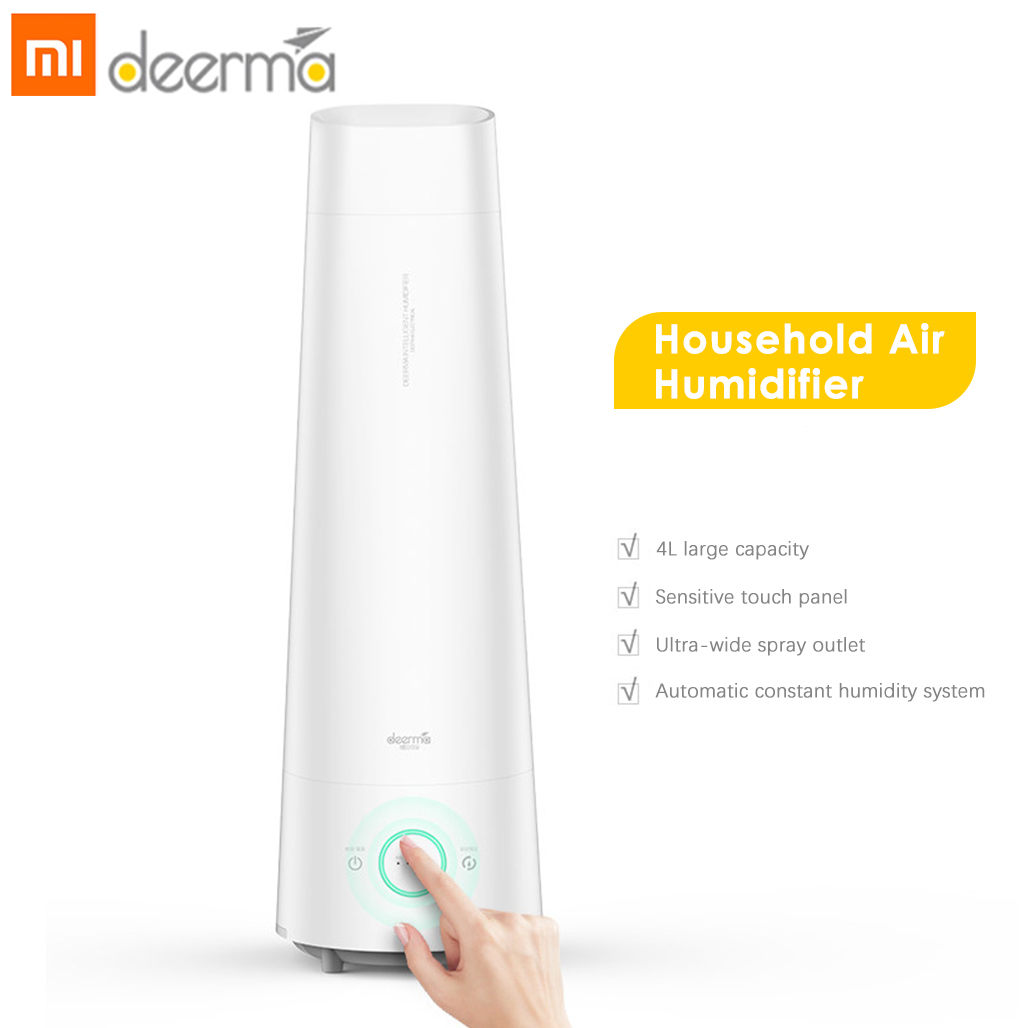 2019 Newest Deerma DEM - LD210 4L Air Humidifier Cool Mist Aromatherapy Mute Air Diffuser Purifier Low Noise For Bedroom