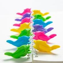 10 шт/лот цветная силиконовая подставка для ручек детский инструмент
