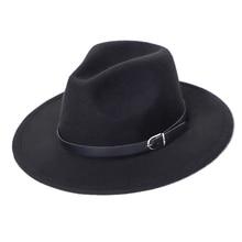 Fedora Hat Men Women Imitation Woolen Winter Women Felt Hats