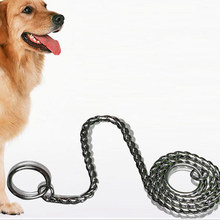 Stainless Steel Reflective Dog Leash Safety Long Mountain Climbing Rope Dog Lead For Small Medium Dogs Pet Training Leashes(China)