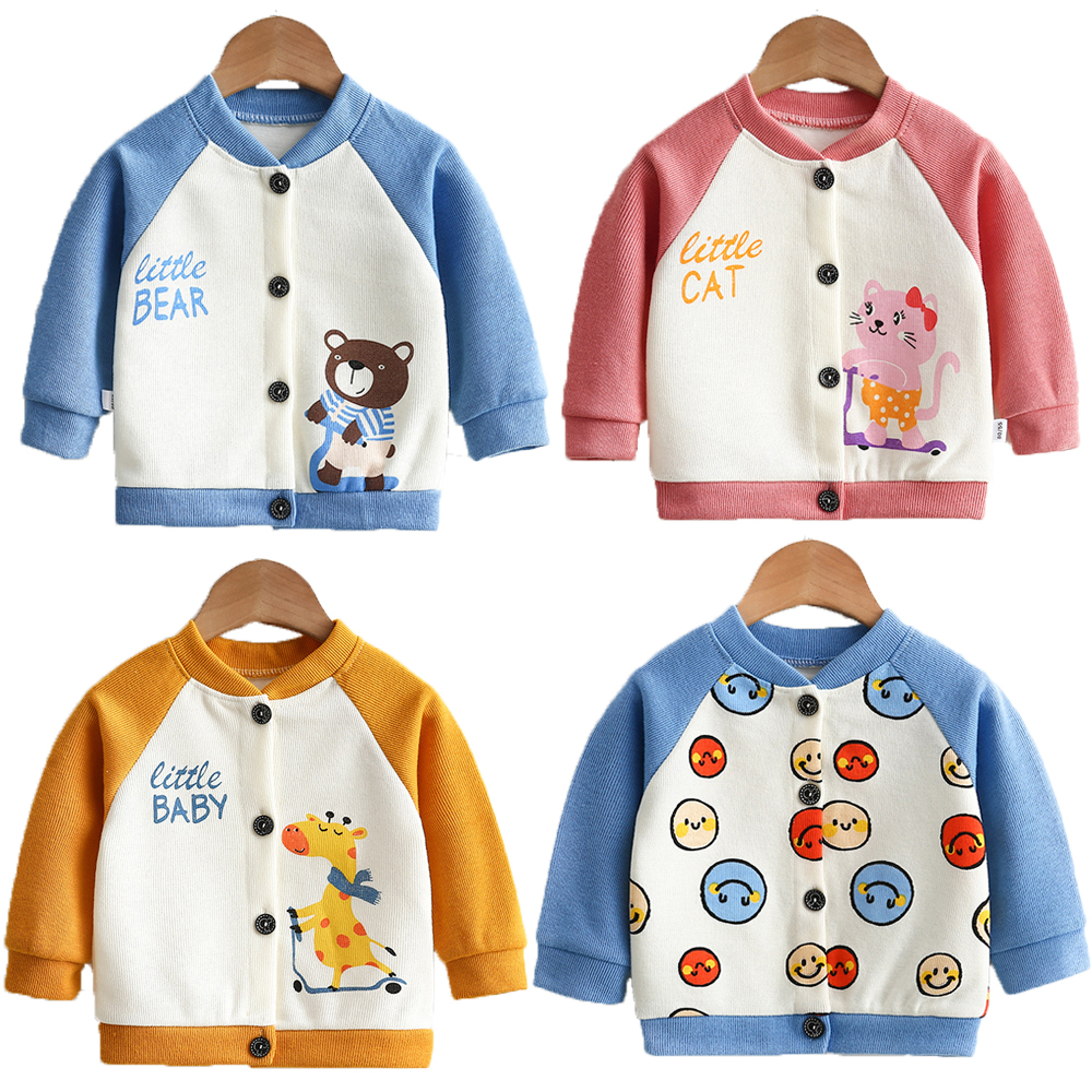 Baby Jacket Boys Girls Coats Cardigan O-Neck Sweaters Spring And Autumn Outer Wear 2021 New Clothes