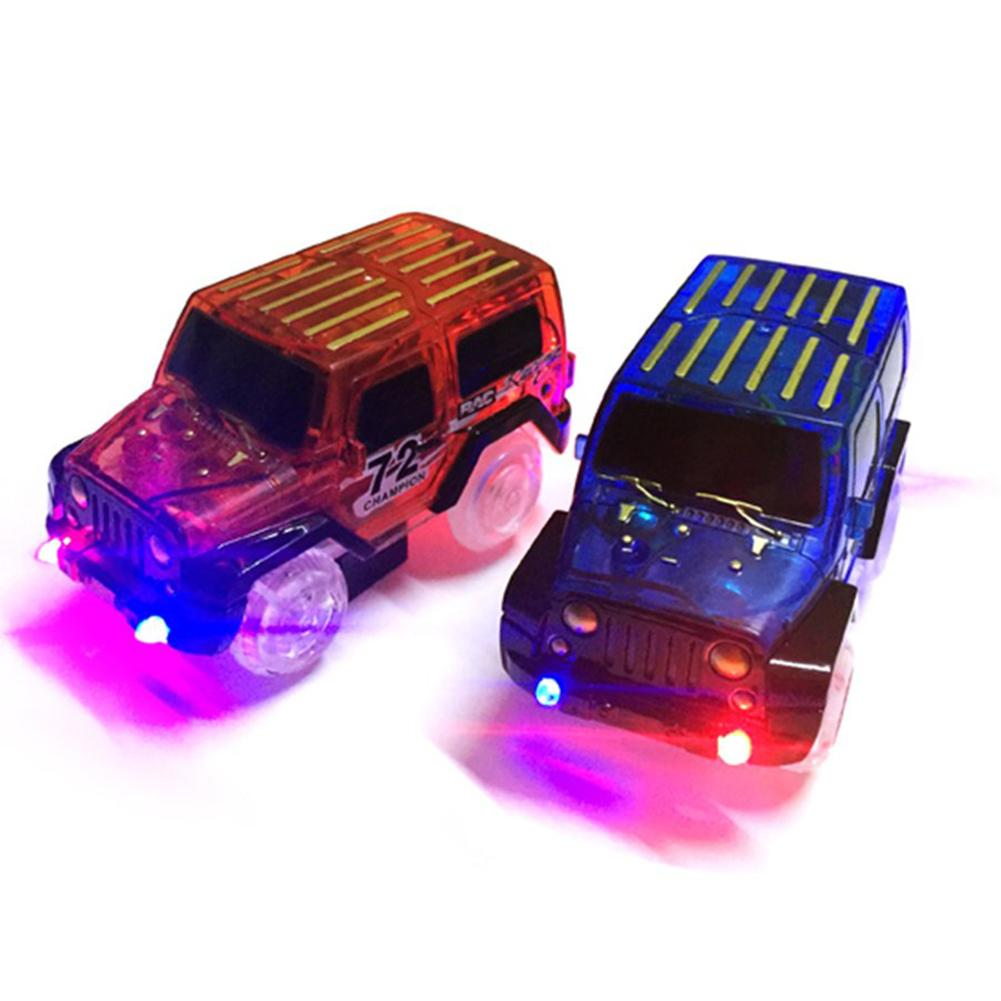 LED Light Up Electric Mini Race Car Truck Magic Track Kids Toy Kids Children Birthday Xmas Gifts Boy Play Magic Together Track
