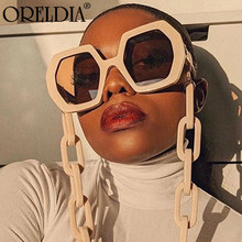 Punk Sunglasses Ladies Luxury Brand Glasses Polygon Big Frame Glasses Retro Men Beige Tone Sunglasses 2020 Latest Sunglasses Hot