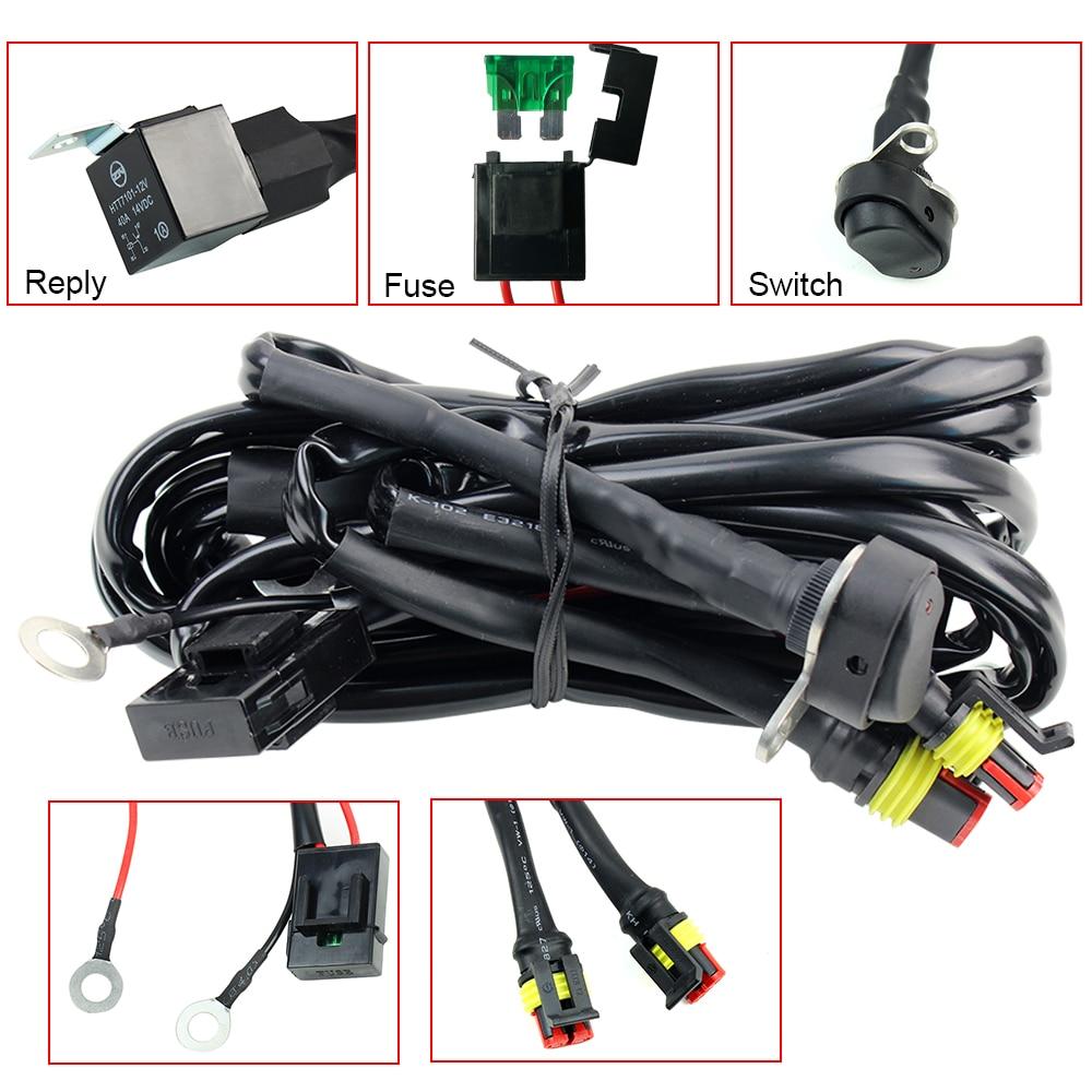 Светодиодный светильник для мотоциклов BMW, противотуманный, электропроводка, релейный провод для мотоциклов BMW R1200 GS /ADV F800GS, светодиодный св...