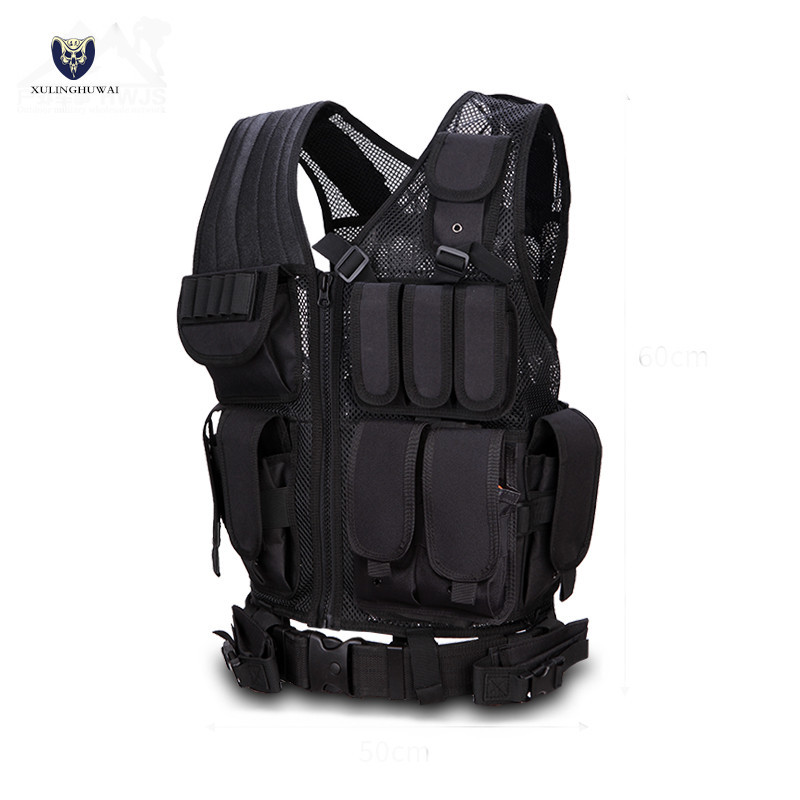 Security Men Military Tactical Vest Paintball Camouflage Molle Hunting Vest Assault Shooting Hunting Plate Carrier With Holster