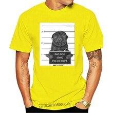 Mops Fahndungsfoto T Hemd Schwarz-Hund, Hund, Pug Life , Mops, M? Pse Hülse T Shirt Sommer Männer T Tops Kleidung