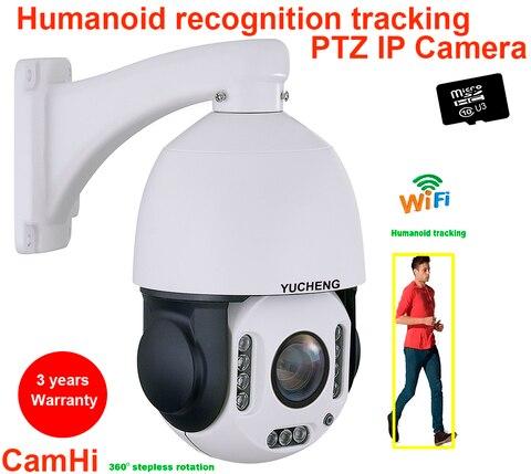 camhi 5mp sem fio 20x zoom faixa automatica humanoide ir ptz velocidade camera ip reconhecimento