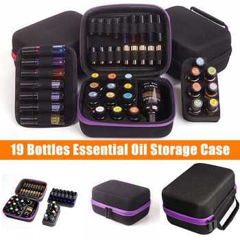 19 Bottles Essential Oil Case 5ML 10ML 15ML Essential Oil Collecting Bags Travel Portable Carrying Cases Nail Polish Storage Bag недорого