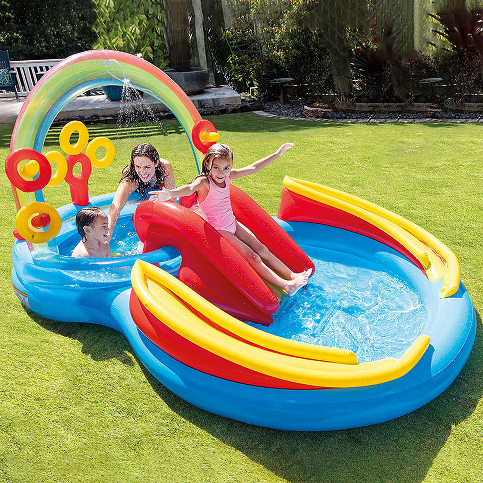Fun Lawn Water Slides Pools Inflatable Pool Water Slide Inflatable Swimming Pool Unique Children Paddling Pool