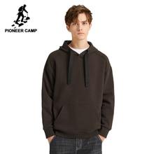 Pioneer Camp Multicolor jednolite bluzy z kapturem mężczyźni Streetwear z kapturem 100% bawełna czarny brązowy żółty biały bluza na co dzień mężczyźni AWY908094