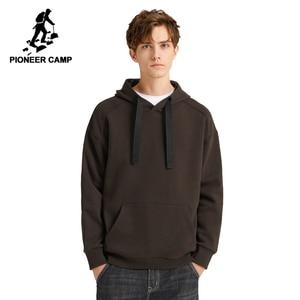 Image 1 - Pioneer Camp multicolore solide sweat à capuche pour homme Streetwear à capuche 100% coton noir marron jaune blanc casual sweat hommes AWY908094
