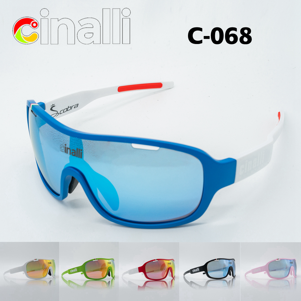 CINALLI C-068 Eyewear Sunglasses Cycling Racing Outdoor Sport Googles Protective TR90 Frame Polycarbonate Polarized