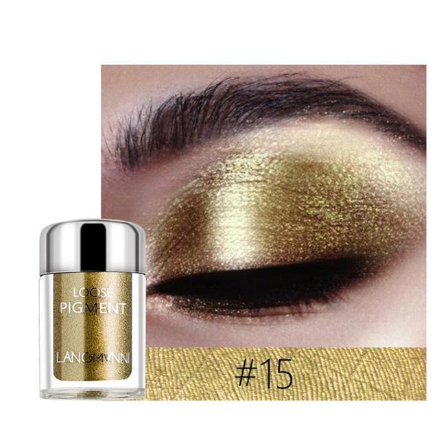 LANGMANNI Glitter Eye Shadow Metal Loose Powder Waterproof Flash Pigment Color Eye Shadow Powder Makeup Cosmetics TSLM1 3
