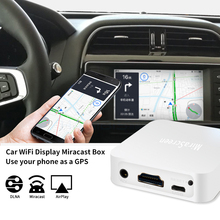 X7 автомобильный беспроводной Wi-Fi зеркальный Соединительный адаптер HDMI-совместимый для телефонов iOS Android Аудио Видео Miracast экран зеркальное о...