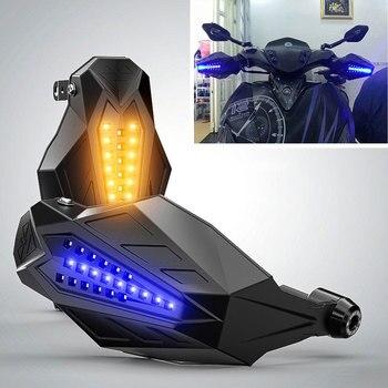 LED Motorcycle handguard Windshield Motocross Hand Guards For kawasaki zephyr 750 ktm sx 85 ducati monster 696 suzuki ltr 450