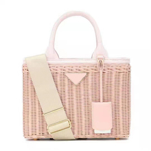 Luxury handbags women genuine leather bags designer rattan w
