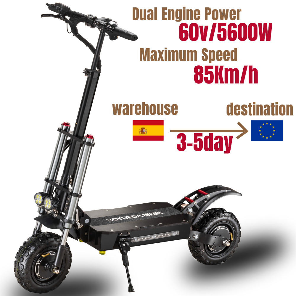 60V5600W Electric Scooter 11 Inch Folding High-Speed Off-Road Dual-Drive Adult E Scooter Upgrade Waterproof
