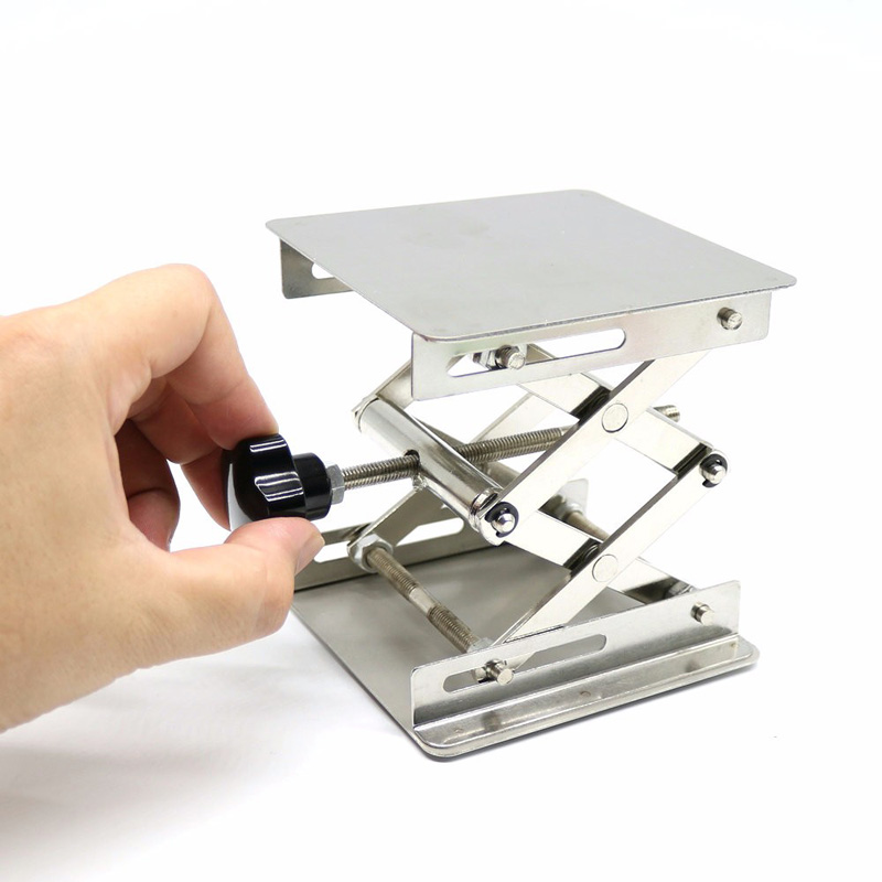 Silver Drill Lift Table Bench Lifter Lifting Router Shank Woodworking Lab Jack❤️