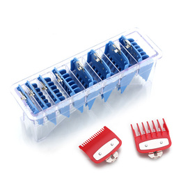 8 conjuntos de pente de guia de tamanhos com uma caixa extra 1.5/4.5mm kit de ferramentas de corte de tosquiadeira de cabelo pentes limitados com metal