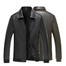 Mens New Recreational Lapel PU Leather Jacket Locomotive Faux Fur Coats Pu Jackets