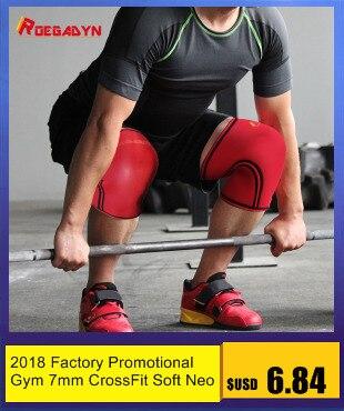 Roegadyn 7mm cruz neoprene duro profissional qualidade joelho suporte power sport compressão joelho manga
