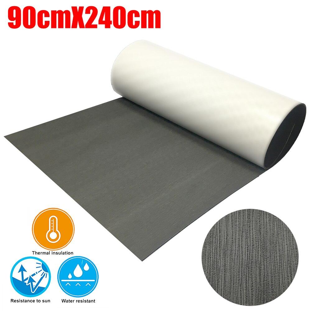EVA Foam Teak Decking Sheet 90cmX240cm Gray Yacht Marine Carpet Flooring Mat Non Skid Self Adhesive Sea Deck Boat Accessories