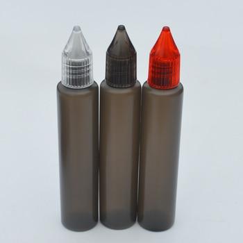 Free Shipping 100pcs Empty Pen Style Bottle 30ml Black Plastic Dropper Bottle with Colorful Cap and Long tip E Liquid Bottle