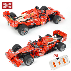 RC 585PCS Super Racing Sports Car Remote Control Building Blocks City Racer Vehicle Motor Bricks Children Toys Gifts