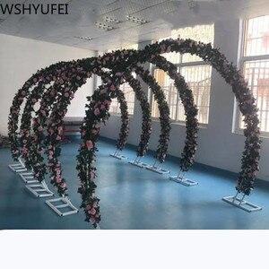 Image 4 - จัดงานแต่งงาน PARTY ฉากหลังเหล็ก Arch ขาตั้ง props คู่แหวนเหล็ก Arch กรอบตกแต่งดอกไม้ Arch ตกแต่งประตู