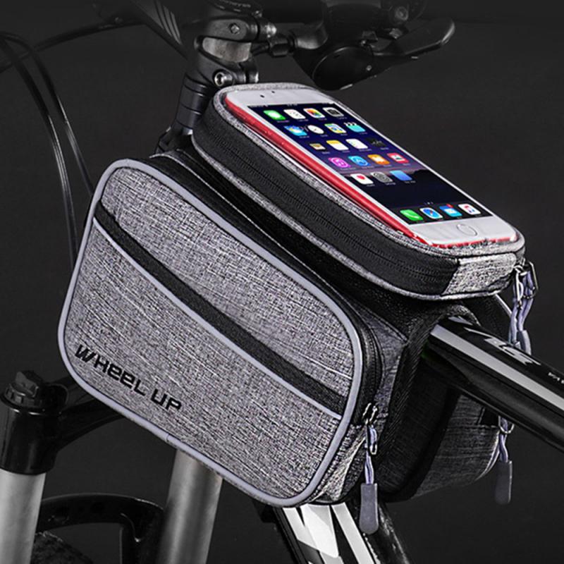 Велосипедная сумка для велосипеда, сумка для мобильного телефона, передняя рама, верхняя труба, велосипедная сумка, большая емкость, водоне...