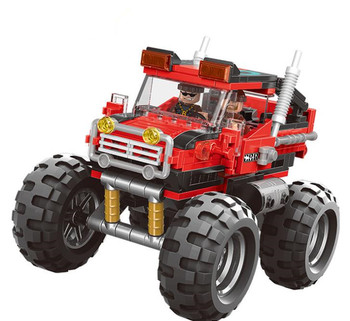 Technic Monster Truck Model Building Blocks The super big foot car Bricks Toys Gift For Children new sembo block engineering city construction container truck fit technic building blocks toys bricks toys for children kid gift