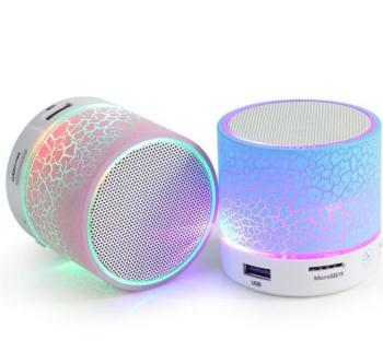 Mini Wireless Portable Bluetooth Speakers Crack LED USB Radio FM MP3 Stereo Sound Speaker Audio Speakers Consumer Electronics Electronics Speakers