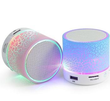 Mini Wireless Portable Bluetooth Speakers Crack LED USB Radio FM MP3 Stereo Sound Speaker Audio Speakers Consumer Electronics Electronics Speakers