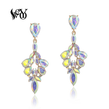 VEYO AB Color ZA Crystal Drop Earrings for Women Elegant Dangle Earrings Fashion Jewelry New veyo zinc alloy hoop clip earrings for women za gold earrings gift fashion jewelry 2019 new
