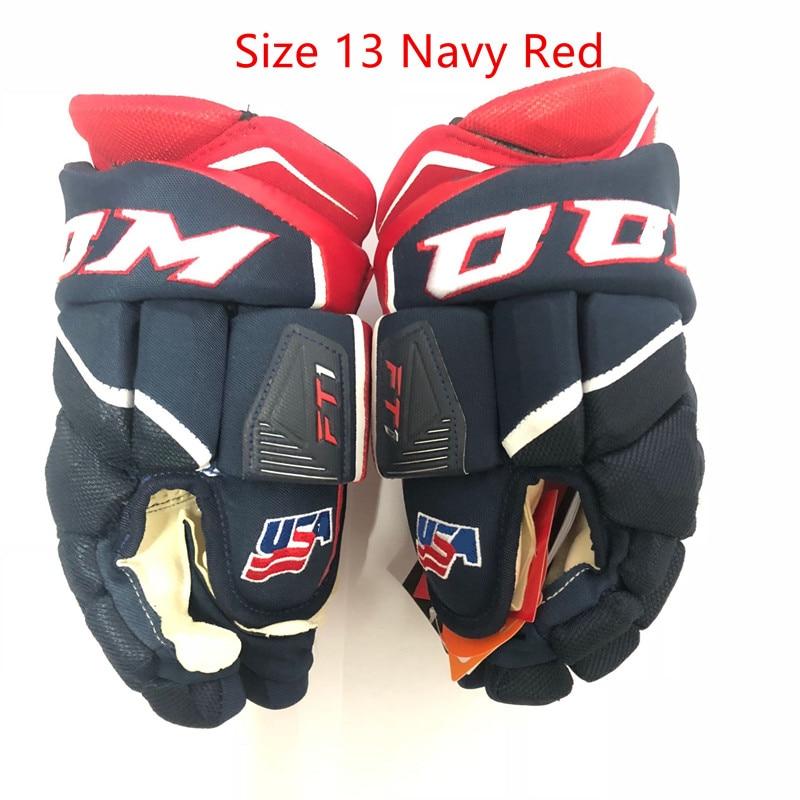 FT1 Ice Hockey Gloves CC M HockeyGlove Protective Sport Senior 13 14 Size Icehockey Glove Inline Road Street Floorball Hockey