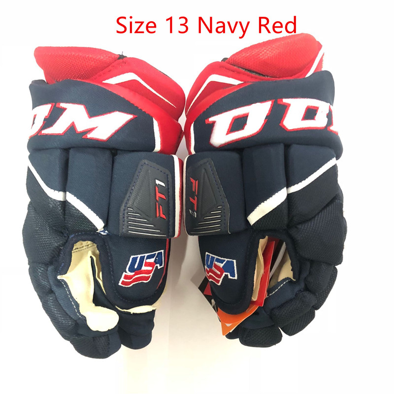FT1 Ice Hockey Gloves CCM HockeyGlove Protective Sport Senior 13 14 Size Icehockey Glove Inline Road Street Floorball Hockey