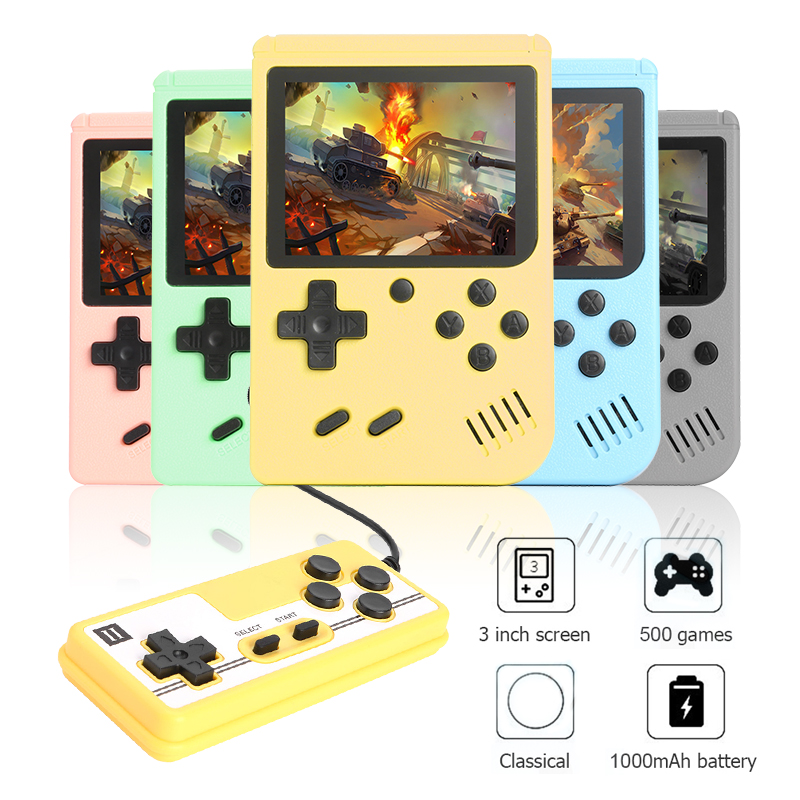 500 jogos retro handheld console de jogo para crianças bolso máquina jogador jogo eletrônico para crianças presente da criança