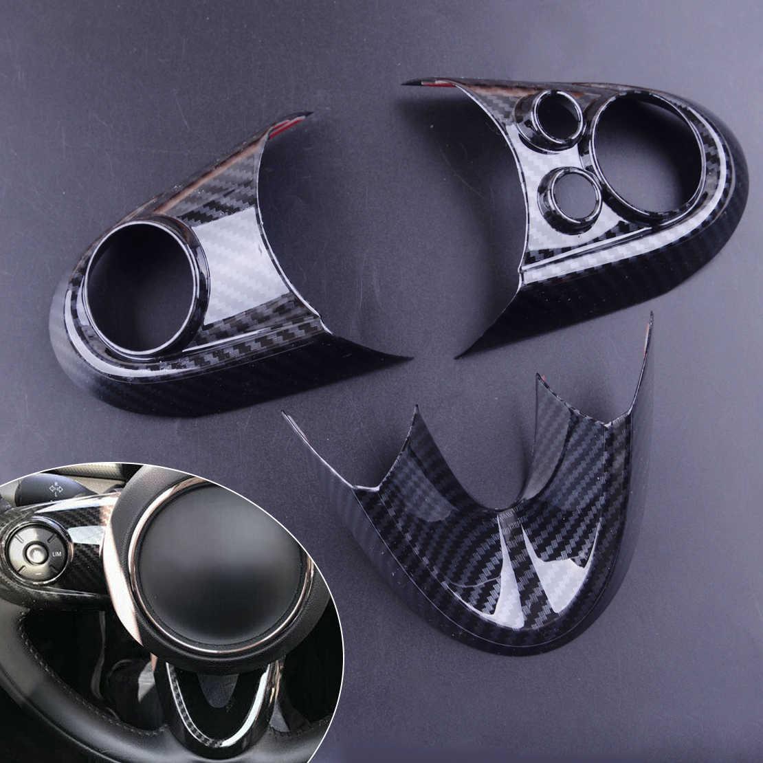 Beler 3 pièces ABS en Fiber de carbone Style volant garniture pour BMW Mini Cooper F54 F55 F56 F57 F60