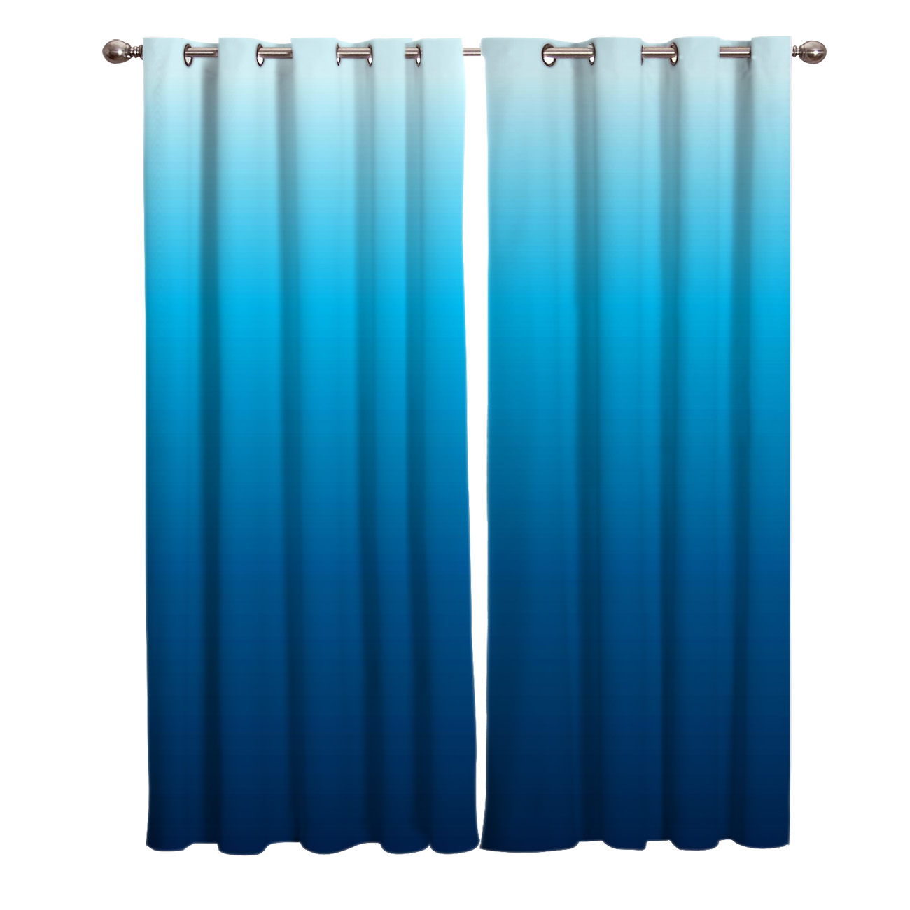 Sea Blue Gradient Summer Window Treatments Curtains Valance Living Room Bedroom Outdoor Decor Window Treatment Ideas Curtain Curtains Aliexpress