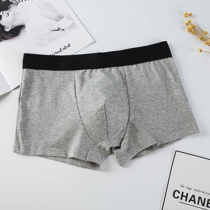 Male Panties Cotton Men's Underwear Boxers Breathable Mens Underpants Sexy Solid Cuecas Trunks Brand Shorts Men Boxer