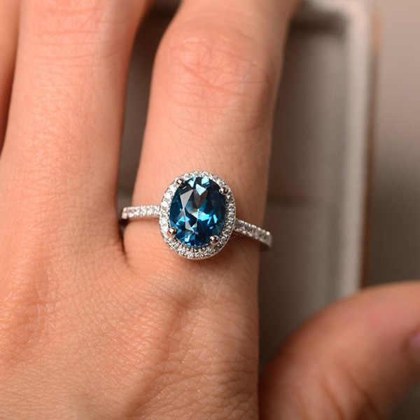 Trendy Silver Alloy แหวนบิ๊กสแควร์สีฟ้าสีเขียวสีม่วงสีดำแหวนหินสำหรับผู้หญิงเครื่องประดับงานแต่งงานของขวัญแหวน