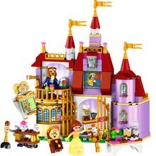 Lele 37001 beleza e a besta princesa castelo modelo blocos de construção brinquedos constuction técnica 41067 presente para crianças