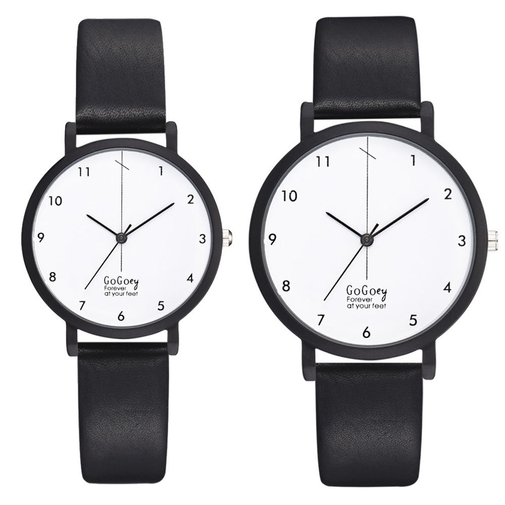 Couple Analog Leather Quartz  Wrist Watch Lover's Watches Simple Couple Watch Gifts for Men Women Clock Reloj Mujer WM1126