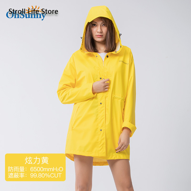 Sunscreen Windbreaker Raincoat Women Men Outdoor Waterproof Travel Long Rain Poncho Jacket Yellow Rain Partner Impermeable Gift 5