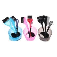 1 conjunto de tintura de cabelo cor escova tigela conjunto com tampões de orelha corante mixer penteado cabeleireiro estilo accessorie